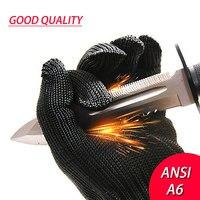 Nmsafety 1 par corte-prova proteger luvas de segurança de fio de aço inoxidável anti-corte luvas de trabalho respirável
