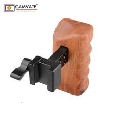 CAMVATE DSLR الخشب مقبض خشبي قبضة (اليد اليسرى) C1537 كاميرا التصوير الملحقات
