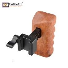 Camvate dslr 목재 손잡이 그립 (왼손잡이) c1537 카메라 촬영 액세서리
