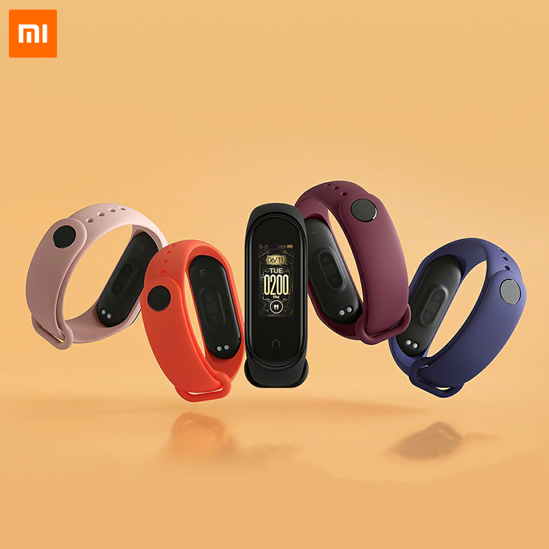 Original Xiaomi Mi Band 4 Strap Black Blue Orange Wine-red Pink Limited Edition Color TPU Bracelet For Xiaomi Mi Smart Band 4