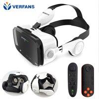 VERFANS Z4 Leather 3D Cardboard Helmet Virtual Reality VR Glasses Headphone Stereo Box VR Glasses Smart