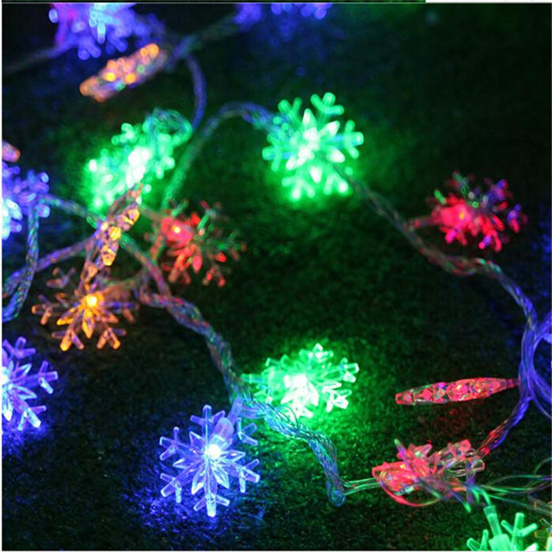 10M 50 LED Snowflake String Fairy Lights Nytt År Xmas Party - Festlig belysning - Foto 5
