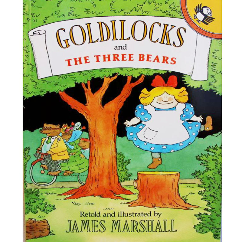 Goldilocks And The Three Bears By James Marshall Educational English Picture Book Learning Card Story Book For Baby Kid Children