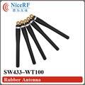 4 unids/lote Envío Libre Gain3.0 SW433-WT100 433 MHz dBi Antena con SMA Macho cabeza De Goma para el módulo inalámbrico