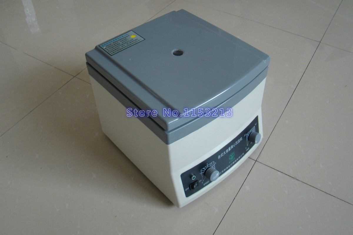 Desktop large capacity centrifuge 4000r/min Laboratory centrifuge sediment machine capacity 6 x 50 ml, use 50ml centrifuge tubes 220v 800d electric centrifuge 4000r min 25w laboratory lab medical practice desktop laboratory centrifuge machine