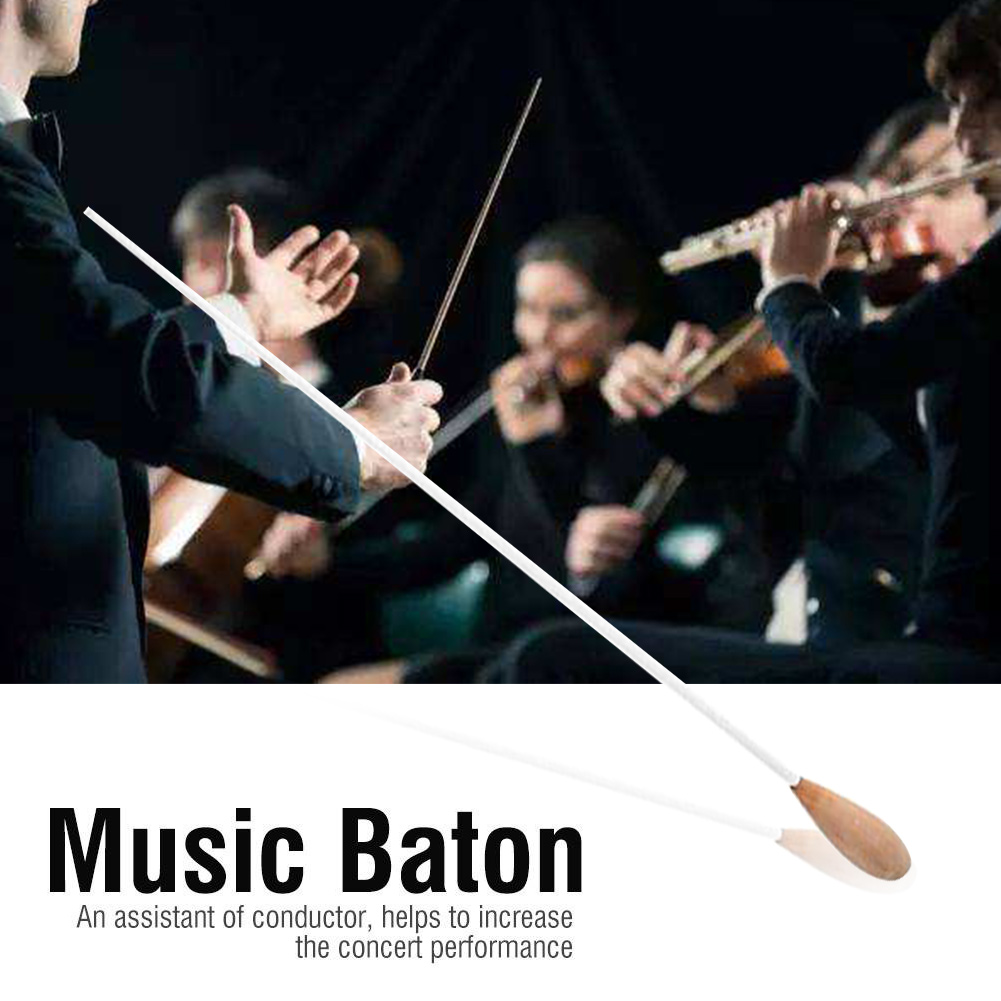 38cm Orchestra Concert Musical Conductor Baton Professional Lightweight Band Conducting Wand Pearwood Handle Symphony Director