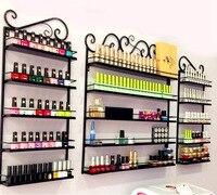 A,3 Pcs/Set 5 Layer Iron Nail Polish Shelf Black Nail Shop Exhibition Shelf Nail Polish Display Wall Rack Makeup Organizer