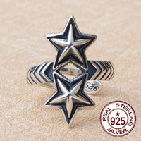 2017 Sale Anillos Rings 925 Sterling Fashion Wavy Retro Thai Silver-personality Star Even Accessories(fake One Punishment Ten)