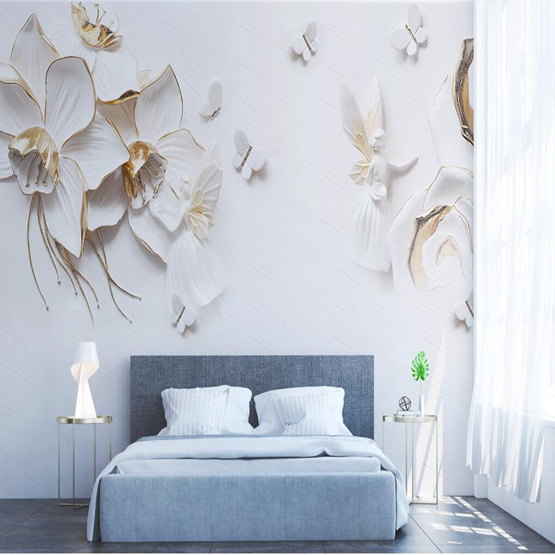 Custom 3D Stereoscopic Wallpaper Photo Wall Murals Living Room Emboss Flower TV Sofa Background Wallpaper Sticker 3D Wall Murals wdbh custom mural 3d photo wallpaper gym sexy black and white photo tv background wall 3d wall murals wallpaper for living room