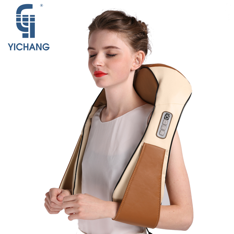 YICHANG Four Colors Electric Vibration Shawl Neck Shatsui Massage&Relaxation Therapy Roller Back Shoulder Body Massager цены онлайн