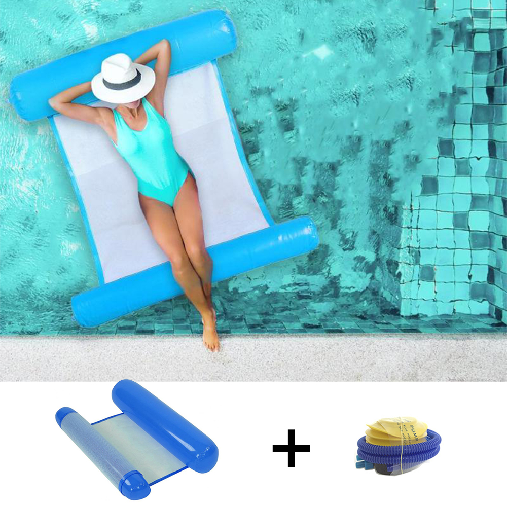 Outdoor Folding Water Hammock Swimming Pool Inflatable Hammock Floating Air Mattress Floating Inflatable Chair