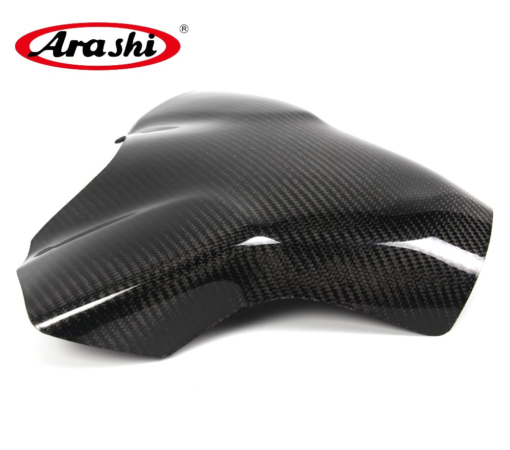 Arashi YZF R1 2007 2008 Carbon Fiber Tank Cover Gas Protector For YAMAHA R1 Case Motorcycle Accessories Shield arashi ninja250 motorcycle parts carbon fiber tank cover gas fuel protector case for kawasaki ninja250 2008 2009 2010 2011 2012
