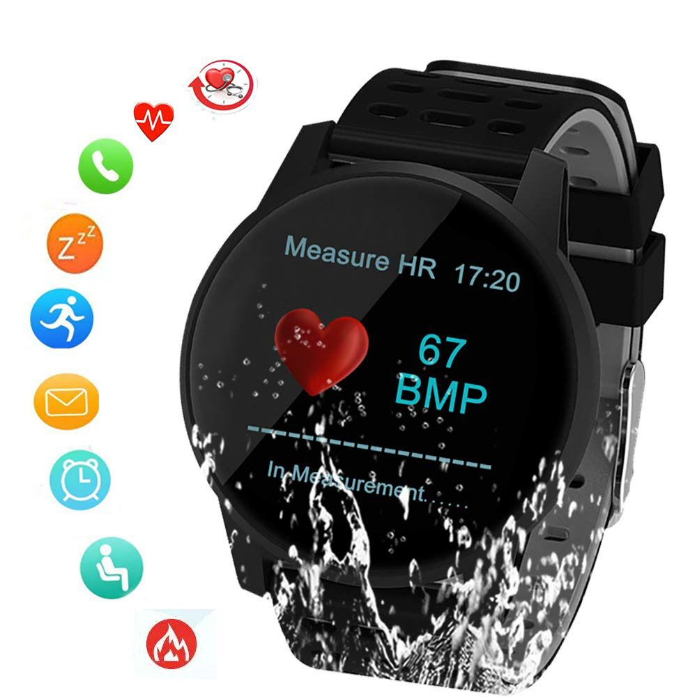 SUNROAD Smart Sports Watch Blood Pressure Heart Rate Monitoring Pedometer Digital Watch With IP67 Waterproof Message Reminder