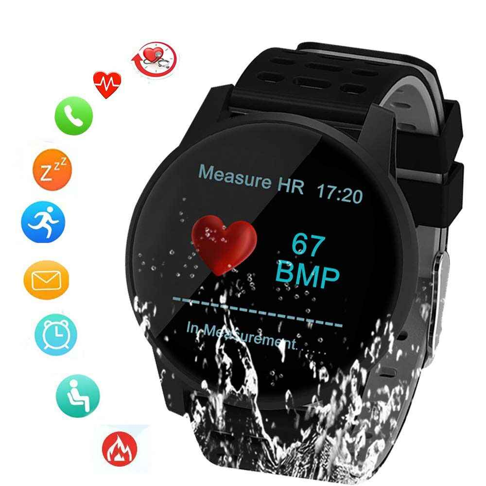 SUNROAD спортивные умные часы кровяное давление Пульс контрольный шагомер цифровые часы с IP67 водонепроницаемым напоминанием