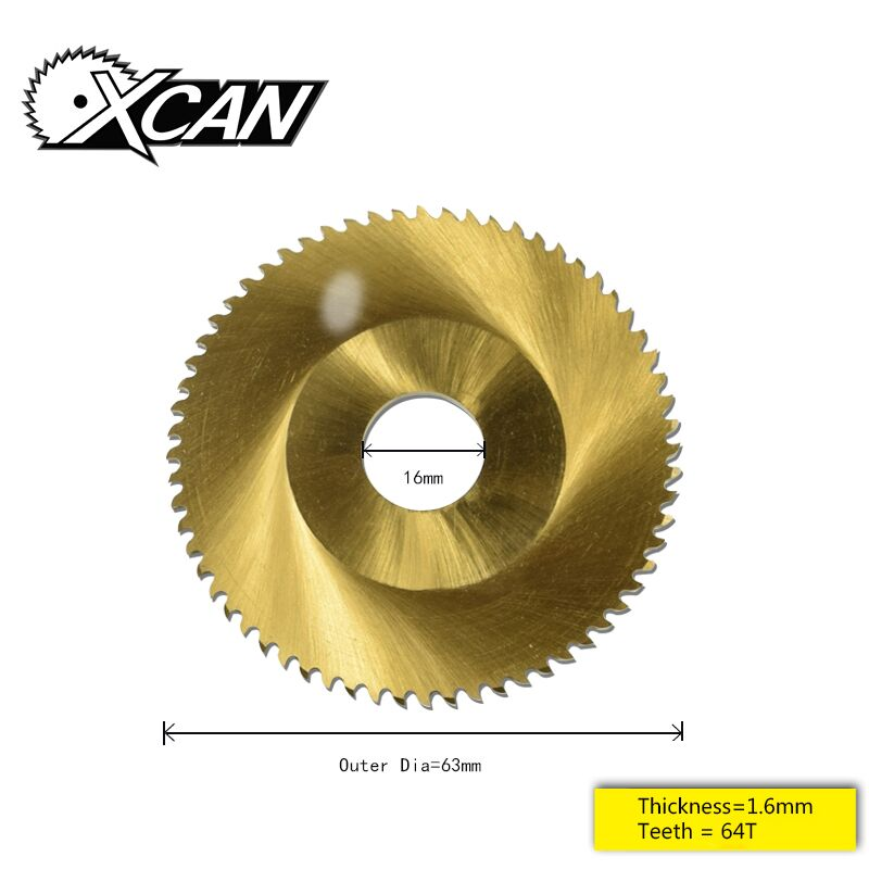 XCAN Diameter 63mm  Tianium Coating Orbital Saw Blade Tube Cutting Saw Blade Pipe Cutting Saw Blade