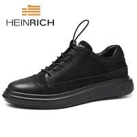 Генрих 2018 новый список минималистский Дизайн Повседневное Мужская обувь модные тапки комфорт роскошные мужские ботинки на шнуровке Tenis Branco