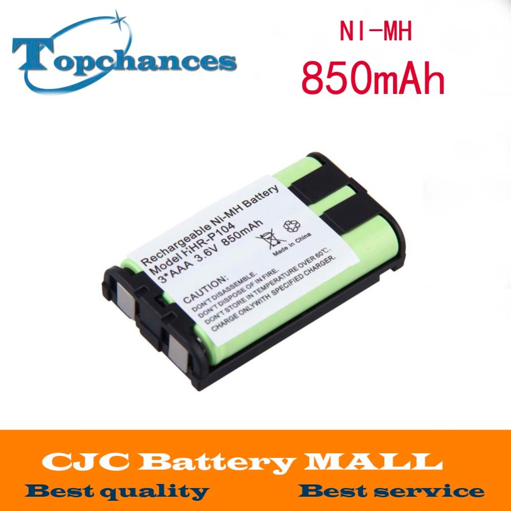 Devoted Free Shipping Ni-mh 850mah 3.6v 3*aaa Hhr-p104 Hhr-p104a/1b Rechargeable Cordless Home Phone Battery For Panasonic Batteries