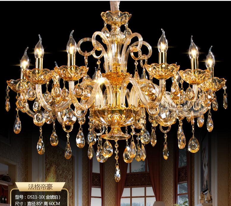 New Free Shipping Big Lustres Chandelier 100% K9 Crystal Luxury Large - Ներքին լուսավորություն - Լուսանկար 5