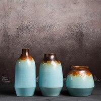 Home Decorative Porcelain Flower Vase Chinese Ceramic Flower Arrangement Pot Handmade Household Ornament Bottle