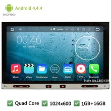 Quad Core 16GB RDS Android 4.4.4 2 Din WIFI FM BT USB Universal Car DVD Player GPS Stereo Radio PC Screen For Nissan tiida sunny