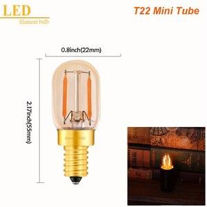 Image 3 - GANRILAND E14 LED Âm Trần Bóng Đèn E12 E14 220 V 0.5 W 1 W ĐÈN LED 2 W Đèn LED Dây Tóc Ban Đêm đèn Treo Pha Lê LED Edison Bóng C7 T20 T22