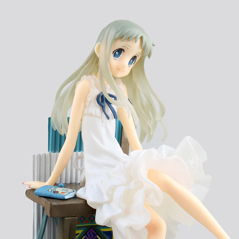 21cm Anohana Honma Meiko Menma Sitting PVC Action & Toy Figures Anime Collection Toys For Christmas Gift Collectible Figurines 1