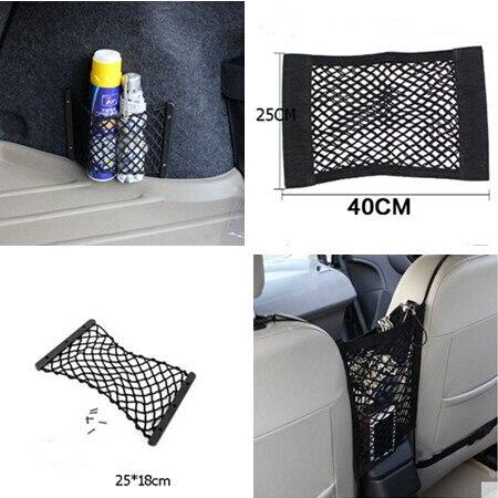 Car-Styling Trunk Seat Storage Net Pocket Bag For Mitsubishi ASX Outlander Lancer Colt Evolution Pajero Eclipse Grandis FORTIS