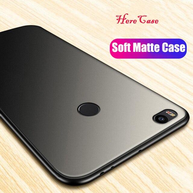 HereCase Cover For Xiaomi Mi Max 2 Case 360 Full Protection Soft Silicone Housing Slim Matte Design For Mi Max 2 Phone Cases Coq