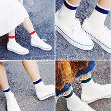Harajuku Cool Skateborad Short Casual Socks Art Women Fashion White Cotton Cocks Hipster Cartoon Colored Ankle Female