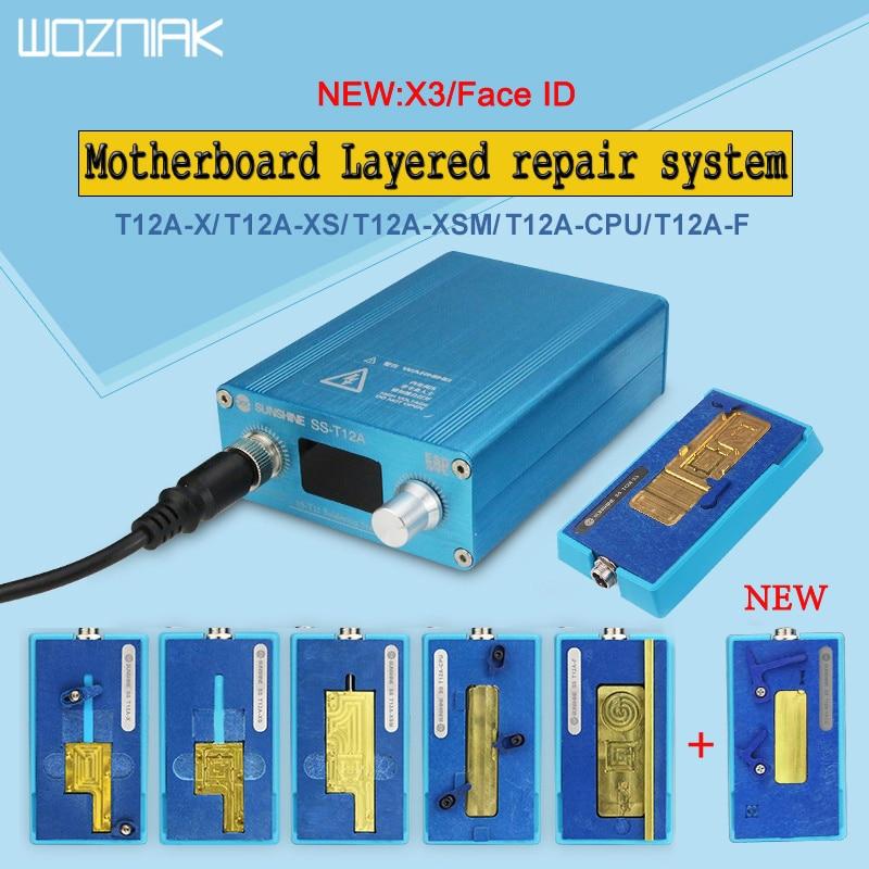 T12A Kit de Station de soudage outil de réparation de carte mère pour iPhone 6 7 8 X XS MAX plate-forme de chauffage CPU NAND Face ID de téléphone portable