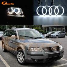 Для Volkswagen VW Passat B5.5 3BG 2001 2002 2003 2004 2005 галогенная фара ультра-яркая подсветка с холодным катодом(CCFL) Ангельские глазки комплект