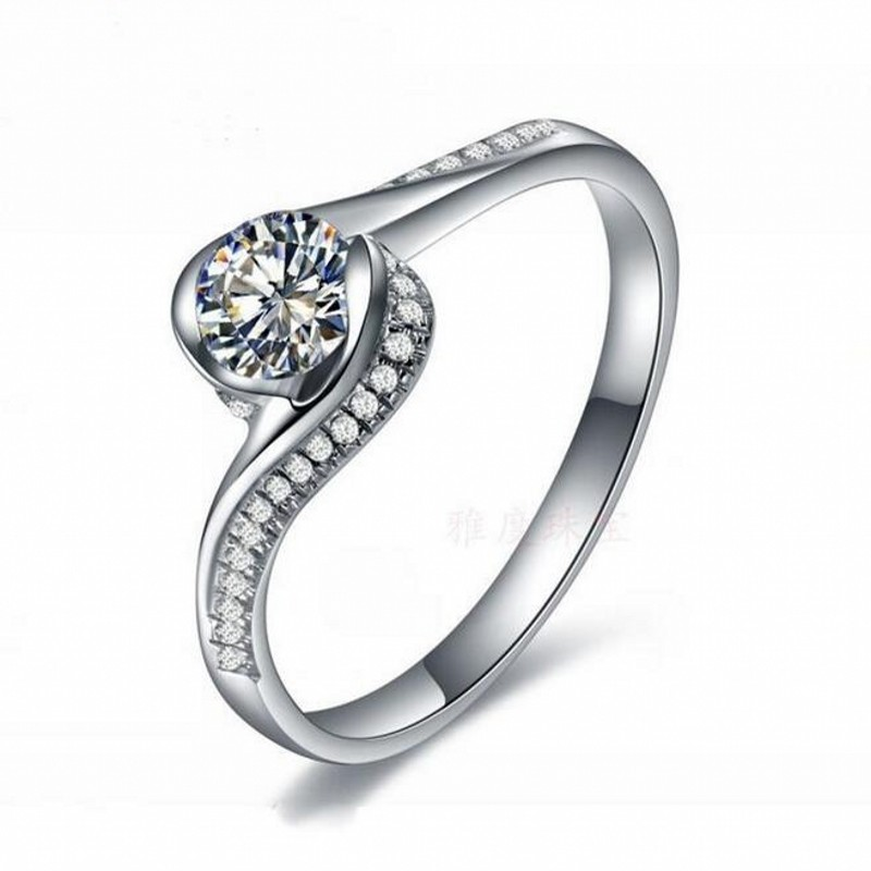 Size 4/5/6/7/8/9/10 Fashion Jewelry Noble Lady 925 Sterling Silver 5A Zircon Birthstone Cross Wedding Ring gift