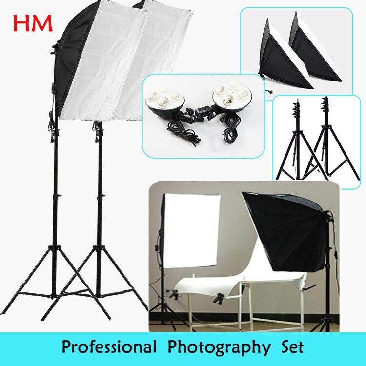 Tracking Number photo stuido Soft Box set light Photography flash softbox reflector material lamp holder hold