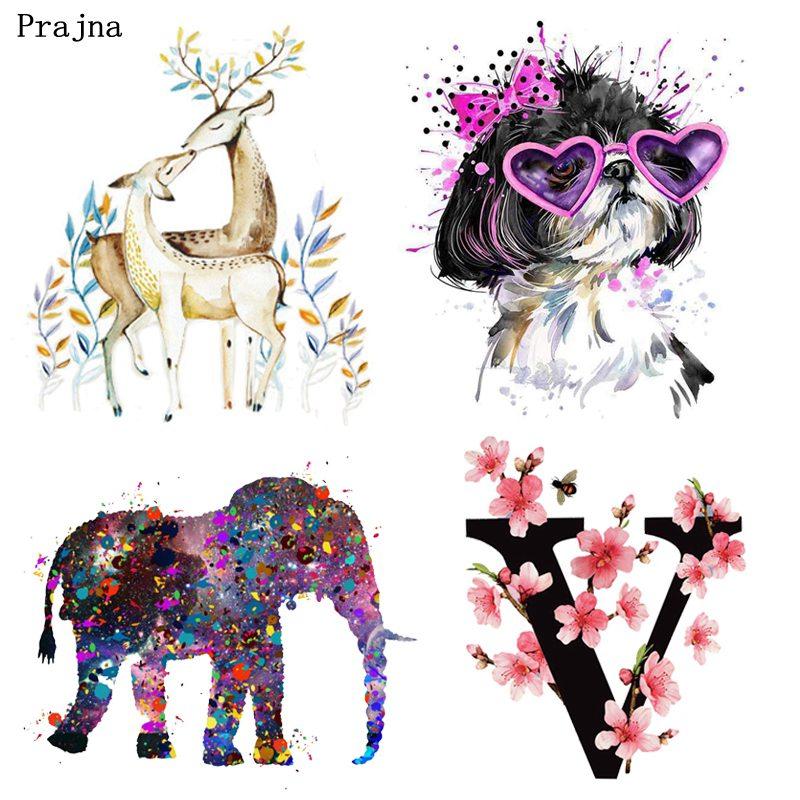 Prajna, с единорогом, железо на переноске, цветок, лев, собака, патч, различные кошки, слон, горячие виниловые наклейки для одежды, сделай сам, пат...