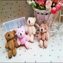 1PIC cute bear plush toy joints Mobile phone package pendant Cartoon bouquet doll The wedding gift