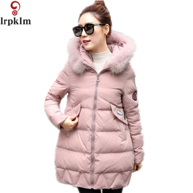 Winter Long Warm Jacket Women Coat 2017 Big Real Fur Loose Parkas Raccoon Fur Collar Hooded For Women Coats Female Jacket LZ267 2017 winter new clothes to overcome the coat of women in the long reed rabbit hair fur fur coat fox raccoon fur collar