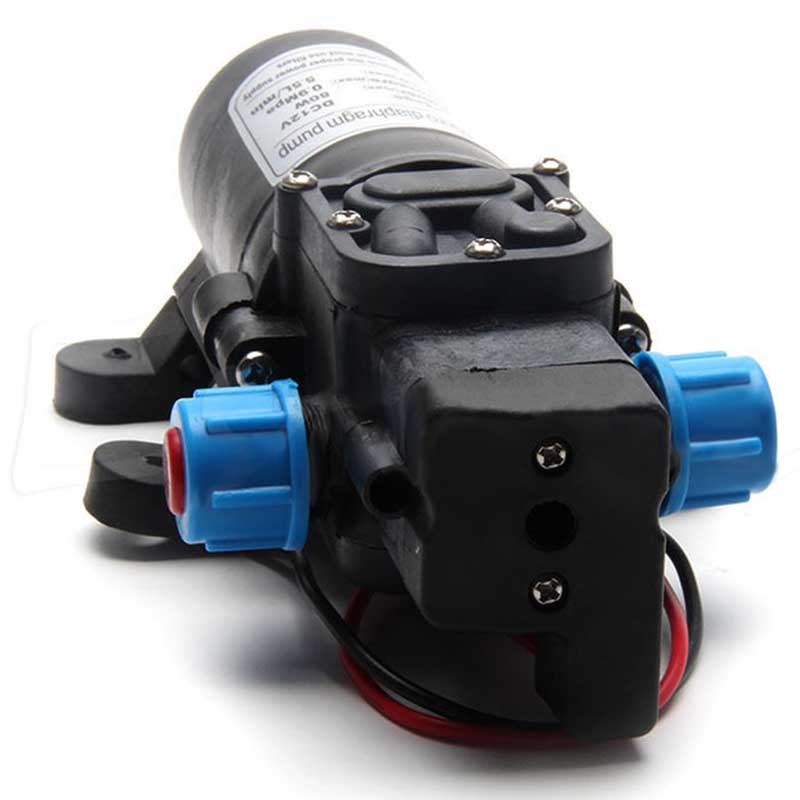 1Pc Micro High Pressure Diaphragm Water Self Priming Pump DC 12V 80W 5.5L/min with Pressure Switch For RV Boat Mayitr 5 5l min 8m range 12v dc 80w vehicle mounted kits high pressure self priming portable water pump for car wash