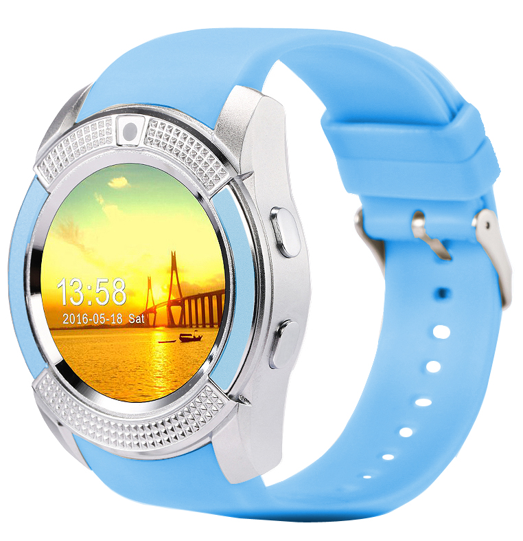 V8 Smart Watch Clock With Sim TF Card Slot Bluetooth Connectivity for Apple iPhone Android Phone