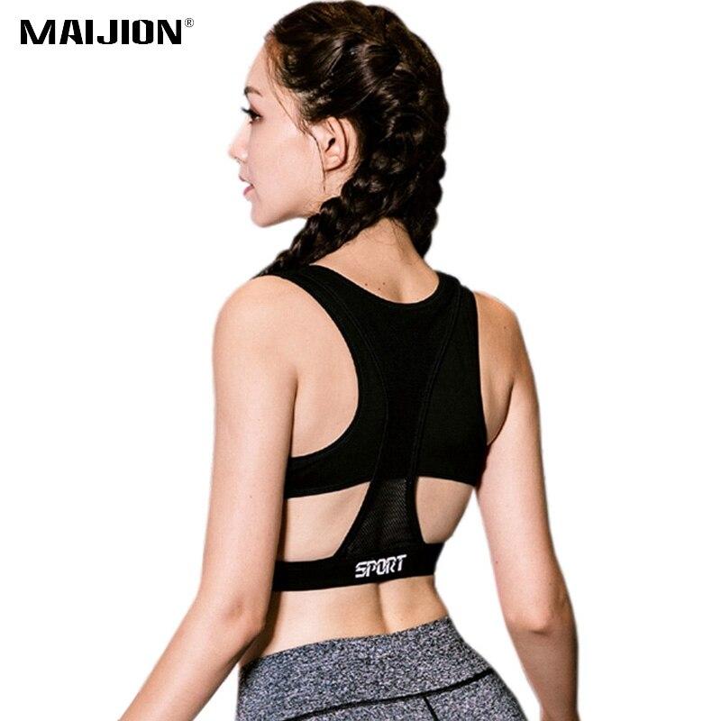 7dab4faeaa33c MAIJION Professional Plus Size Women Sports Bras Stretch Shockproof ...