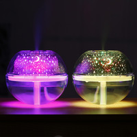 USB LED Crystal Night Lamp Projector 500ml Air Humidifier Desktop Aroma Diffuser Ultrasonic Mist Maker Night Light