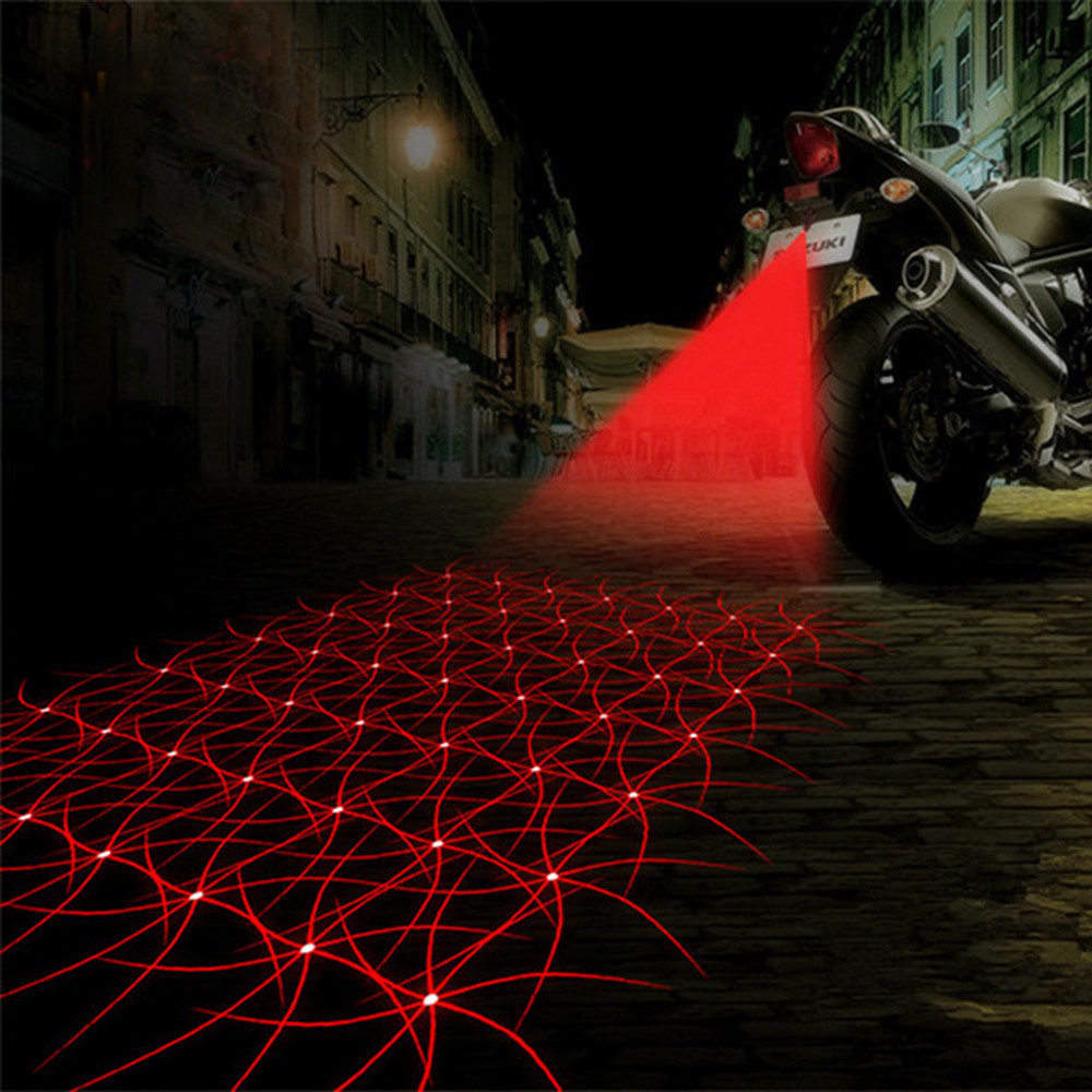 Fashion 7 Patterns Motorcycle Fog Lights Cool Motorbike Tail Light Motorcycle Rear Car Laser Brake Turn Bulb Accessories