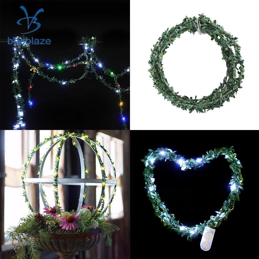 Green Rattan String Fairy Light 2.2m Battery Operated Garden Garland Fairy Light
