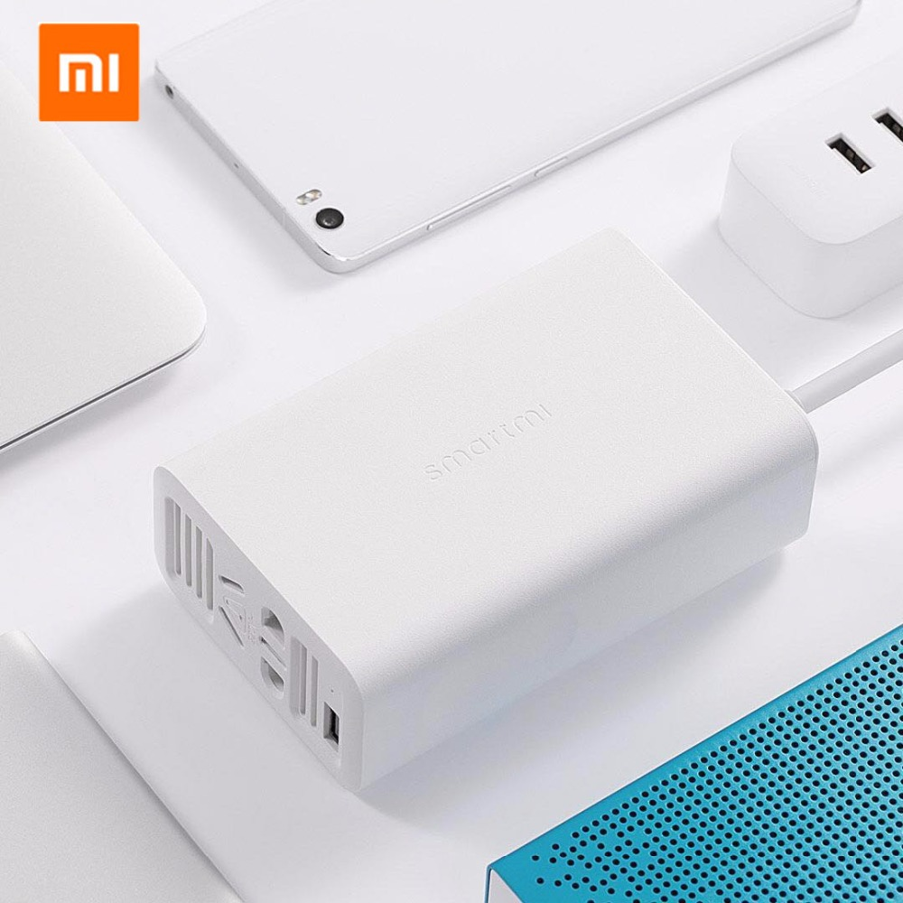 Xiaomi Mijia Smartmi 100w Portable Car Power Inverter Converter Dc 12v To 220v Ac With 5v 24a Usb Ports Charger Socket In Electrical Plug From Consumer
