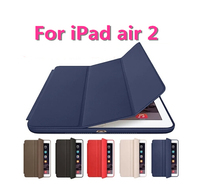 Original Ultra Flip Stand Three Fold Smart Cover For Apple Ipad Air 2 Slim Leather Case