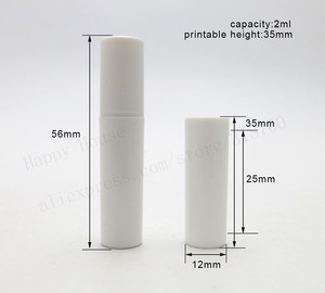 Image 5 - 100pcs/lot Empty 2ml Clear Black White cute plastic mist spray perfume bottle 2CC small promotion sample perfume atomizer