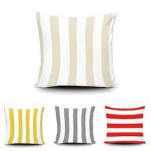 Модные полосы Чехлы для подушек настроить геометрический черный, красный белая наволочка домашний диван Декор автомобиля мягкие Ткан