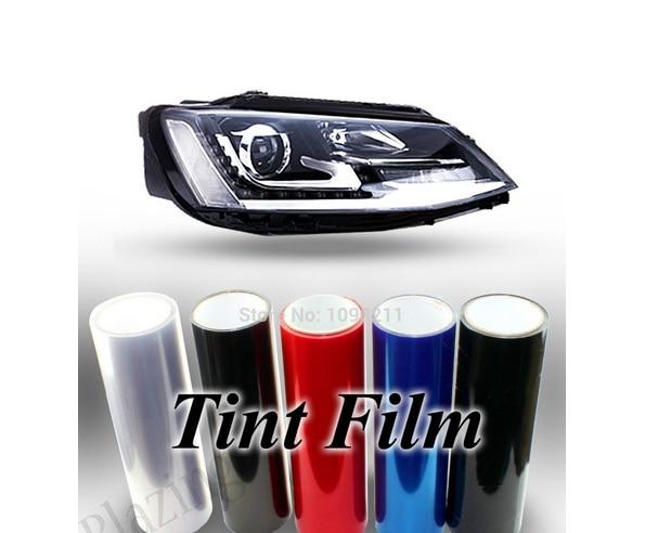 1roll 30CM Auto Car Light Headlight Taillight Tint styling waterproof Vinyl Film Sticker Free shipping