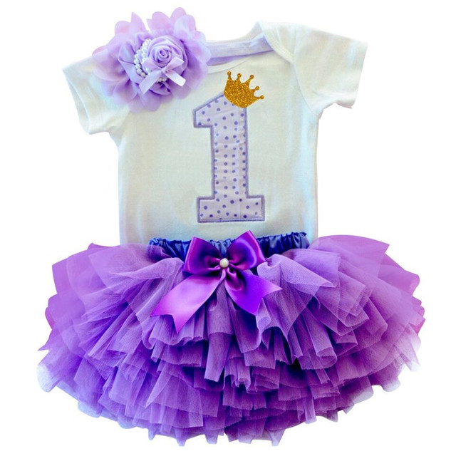 Newborn Baby Girl Clothes Sets Bebes Clothing Suits 1st Birthday Outfit Baby Rompers+Tutu Skirt+Headband Baby Christening Gift 5