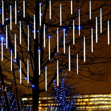 50cm 30cm 20cm waterproof Meteor Shower Rain Tubes Led Light Lamp 240V EU Plug Christmas Light Wedding Garden Decoration Xmas