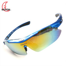 MOON 5 Lens Bicycle Sports Glasses 2019 Polarized Sunglasses Mountain Bike Riding Eyes Unisex Glasses lentes ciclismo a50 недорого